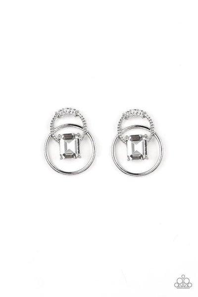 Paparazzi Earring ~ Dangerously Dapper - White