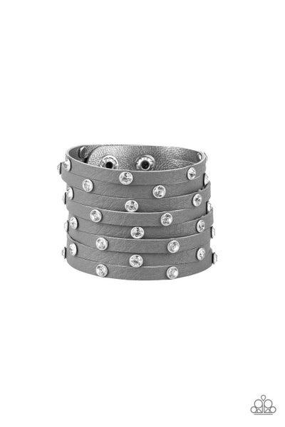 Paparazzi Bracelet ~ Sass Squad - Silver