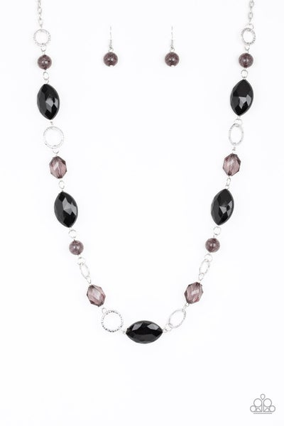 Paparazzi Necklace ~ Shimmer Simmer - Black