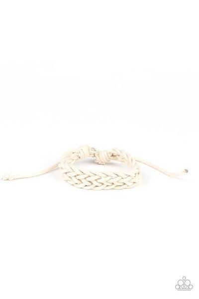 Paparazzi Bracelet ~ Braid Raid - White