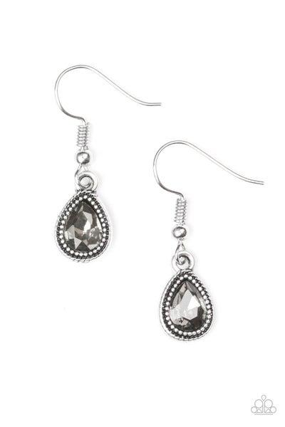Paparazzi Earring ~ Princess Priority - Silver