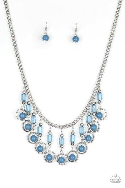 Paparazzi Necklace ~ Cool Cascade - Blue