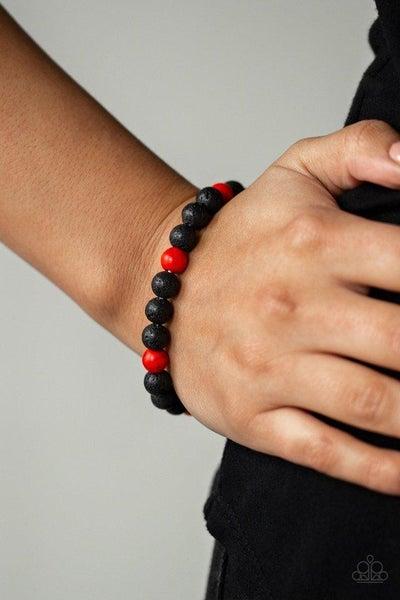Paparazzi Bracelet ~ All Zen - Red