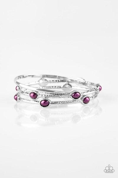 Paparazzi Bracelet ~ Bangle Belle - Purple