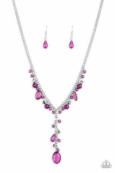 Paparazzi Necklace ~ Crystal Couture - Purple