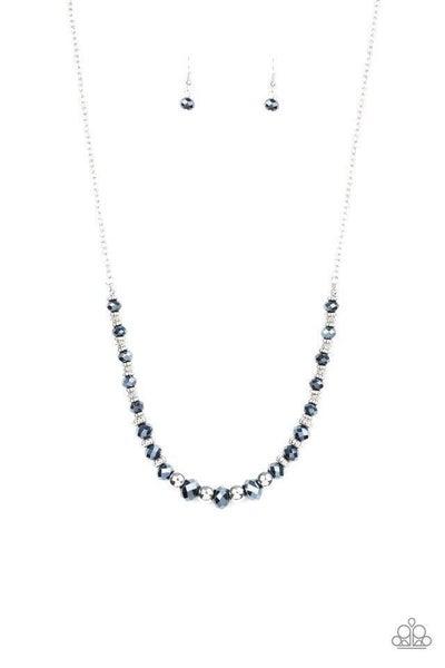 Paparazzi Necklace ~ Stratosphere Sparkle - Blue