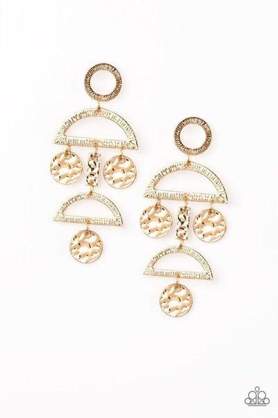 Paparazzi Earring ~ Incan Eclipse - Gold