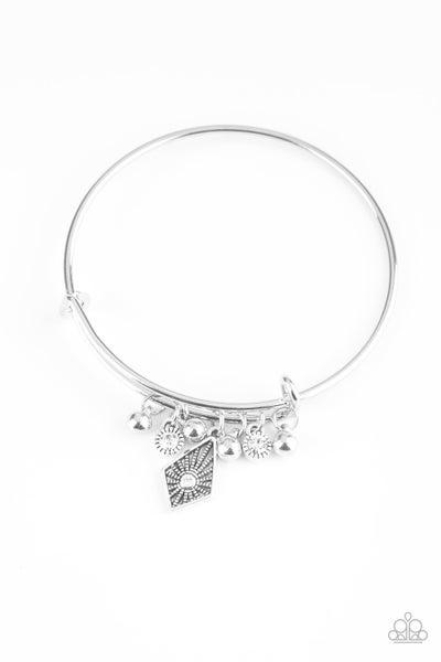 Paparazzi Bracelet ~ Treasure Charms - White