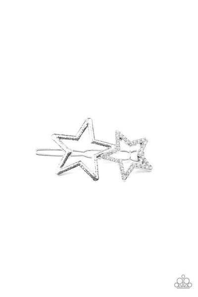 Paparazzi Hair Accessories ~ Lets Get This Party STAR-ted! - White