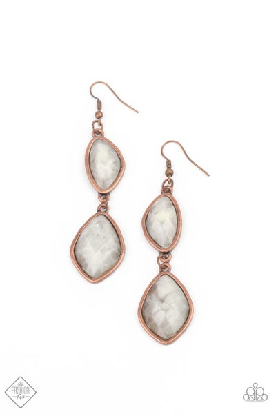Paparazzi Earring Fashion Fix Jan 2021 ~ The Oracle Has Spoken - Copper