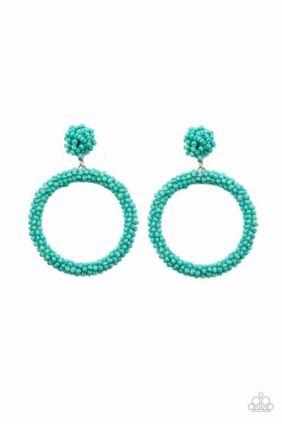 Paparazzi Earring ~ Be All You Can BEAD - Blue