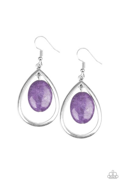Paparazzi Earring ~ Seasonal Simplicity - Purple