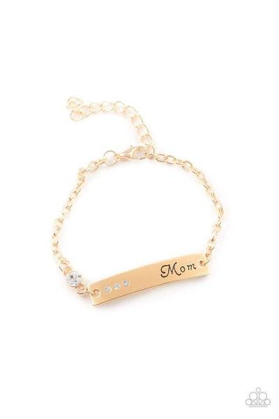 Paparazzi Bracelet PREORDER ~ Mom Always Knows - Gold