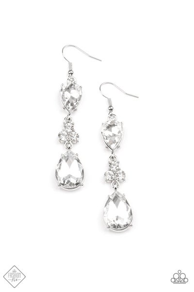 Paparazzi Earring Fashion Fix May 2021 ~ Once Upon a Twinkle - White