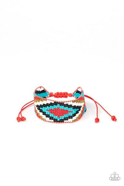 Paparazzi Bracelet ~ Beautifully Badlands - Red