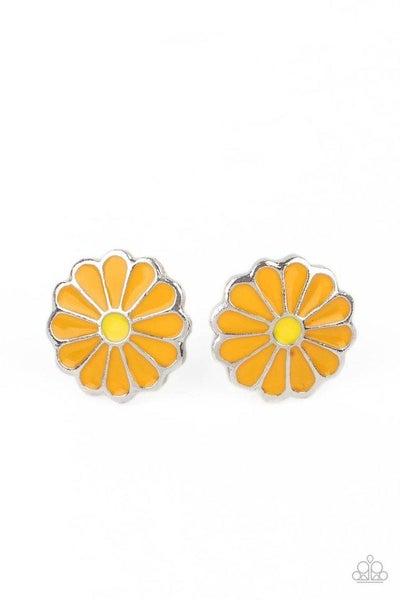 Paparazzi Earring ~ Budding Out - Orange