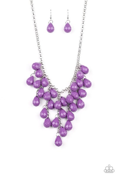 Paparazzi Necklace ~ Serenely Scattered - Purple