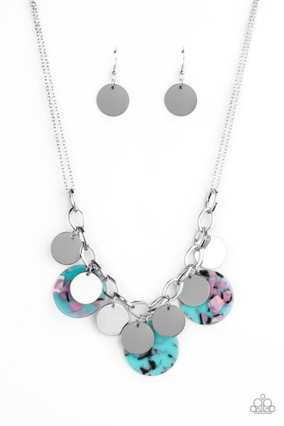 Paparazzi Necklace ~ Confetti Confection - Blue