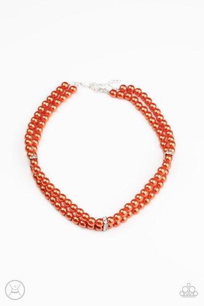 Paparazzi Necklace ~ Put On Your Party Dress - Orange
