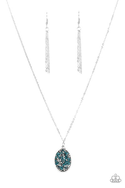 Paparazzi Necklace ~ Star-Crossed Stargazer - Blue