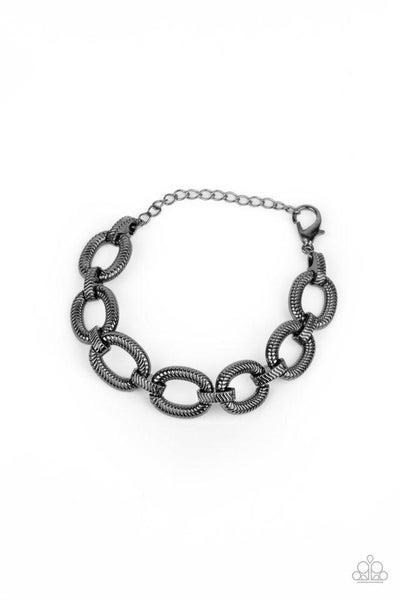 Paparazzi Bracelet ~ Industrial Amazon - Black