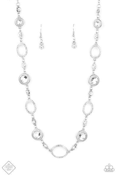 Paparazzi Necklace ~ Pushing Your LUXE - Fashion Fix Nov 2020 - White