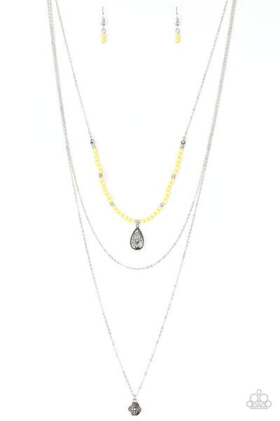 Paparazzi Necklace ~ Mild Wild - Yellow