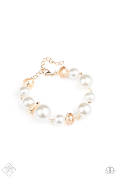 Paparazzi Bracelet Fashion Fix Aug2020~ Glamour Gamble - Gold