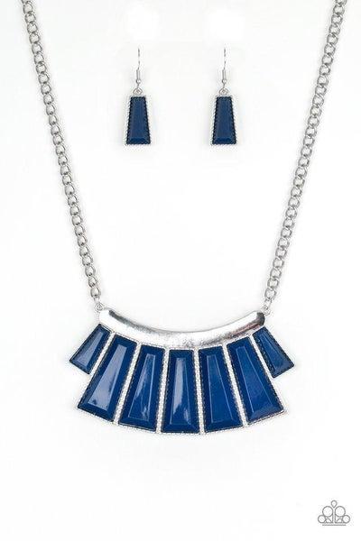 Paparazzi Necklace ~ Glamour Goddess - Blue