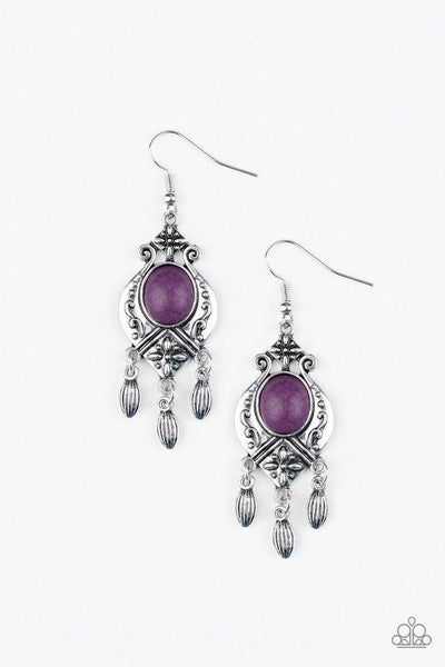 Paparazzi Earring ~ Enchantingly Environmentalist - Purple