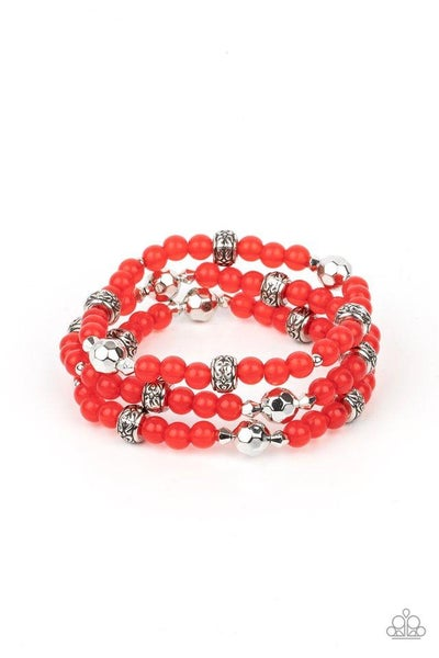 Paparazzi Bracelet PREORDER ~ Here to STAYCATION - Red