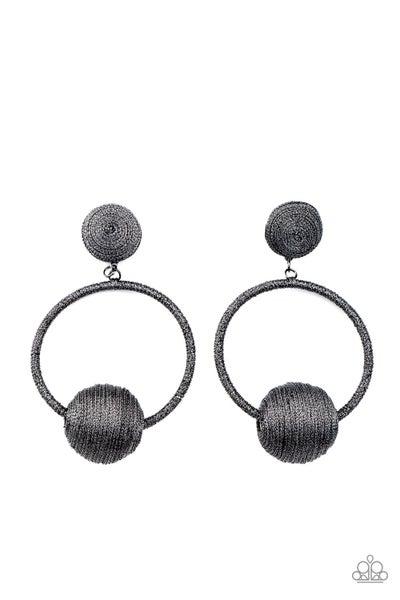 Paparazzi Earring April LOP ~ Social Sphere - Black