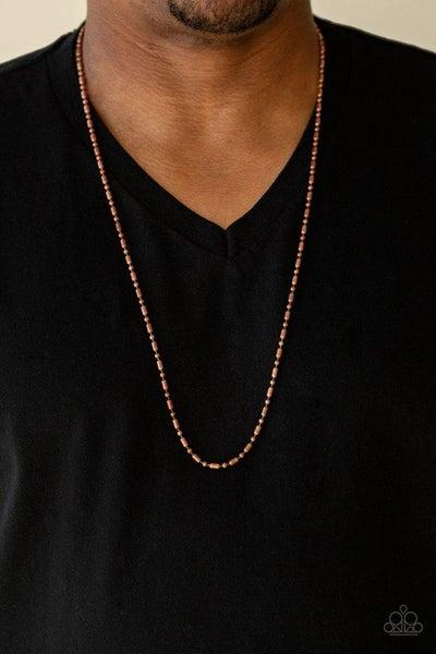 Men's Paparazzi Necklace ~ Covert Operation - Copper