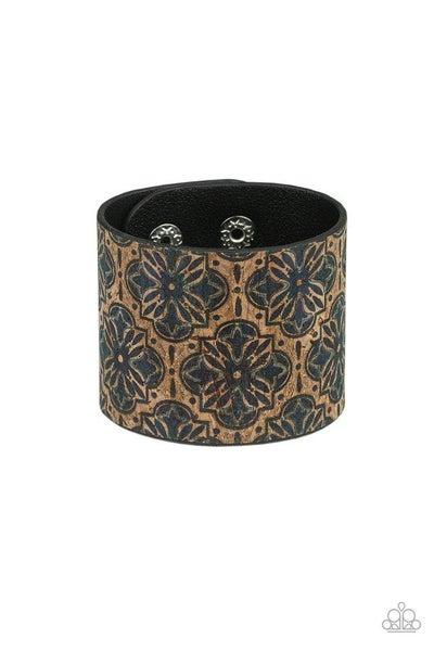 Paparazzi Bracelet ~ Cork Culture - Blue