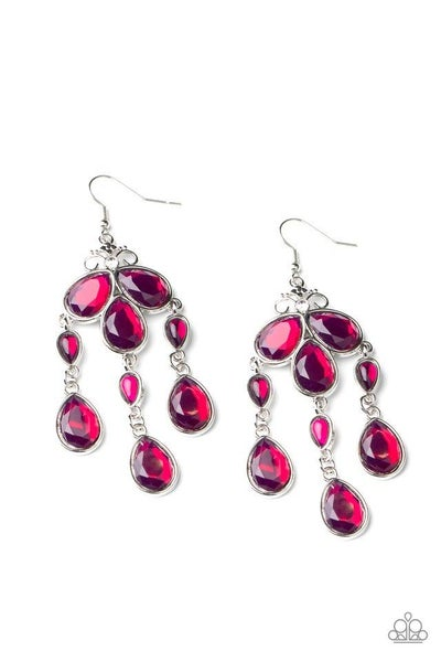 Paparazzi Earring ~ Clear The HEIR - Purple