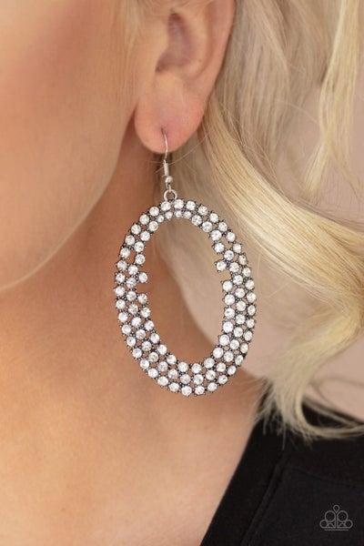 Paparazzi Earring ~ Radical Razzle - White