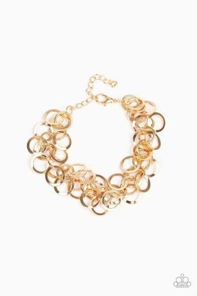 Paparazzi Bracelet ~ Noise Control - Gold