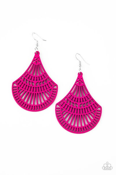 Paparazzi Earring ~ Tropical Tempest - Pink