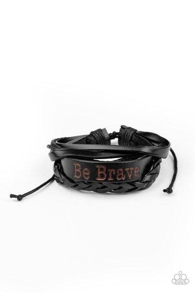 Paparazzi Bracelet ~ Brave Soul - Black