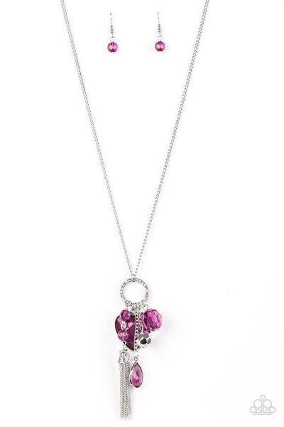 Paparazzi Necklace ~ Haute Heartbreaker - Purple