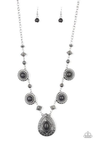 Paparazzi Necklace ~ Mayan Magic - Black
