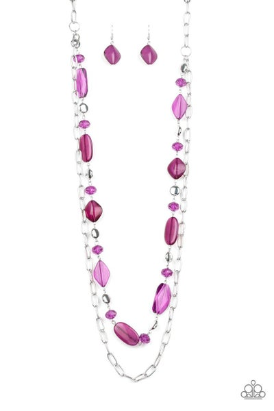 Paparazzi Necklace ~ Colorful Couture - Purple