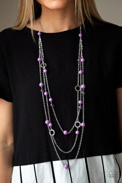 Paparazzi Necklace ~ Brilliant Bliss - Purple
