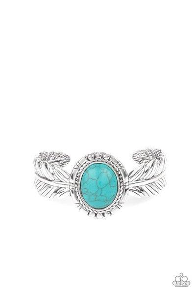 Paparazzi Bracelet ~ Western Wings - Blue