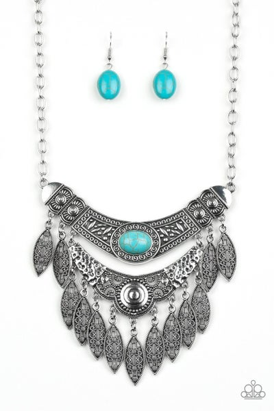 Paparazzi Necklace ~ Island Queen - Blue