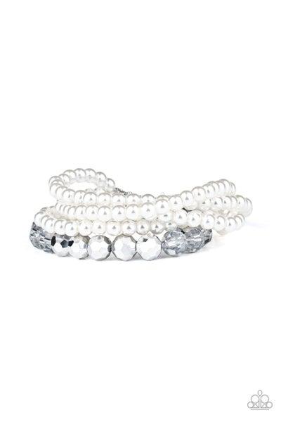 Paparazzi Bracelet ~ Refined Renegade - White