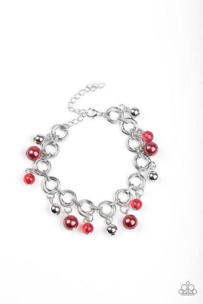 Paparazzi Bracelet ~ Fancy Fascination - Red