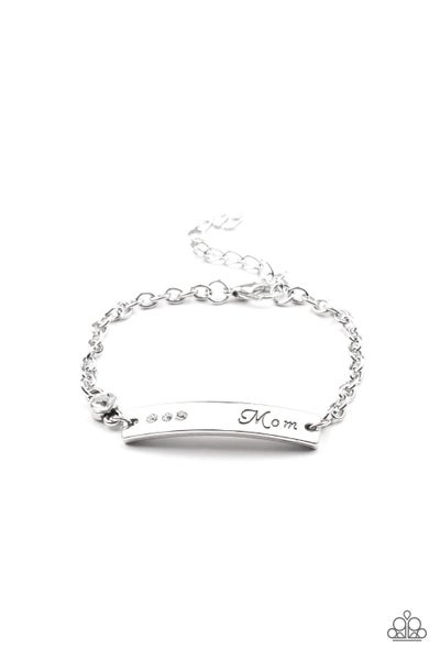 Paparazzi Bracelet ~ Mom Always Knows - White