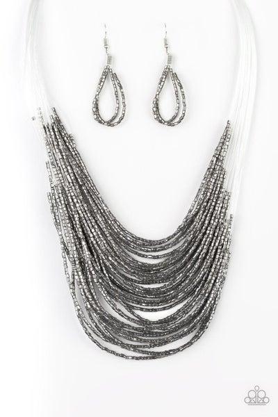 Paparazzi Necklace ~ Catwalk Queen - Black