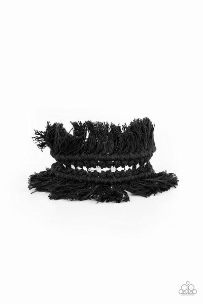 Paparazzi Bracelet ~ Homespun Hardware - Black